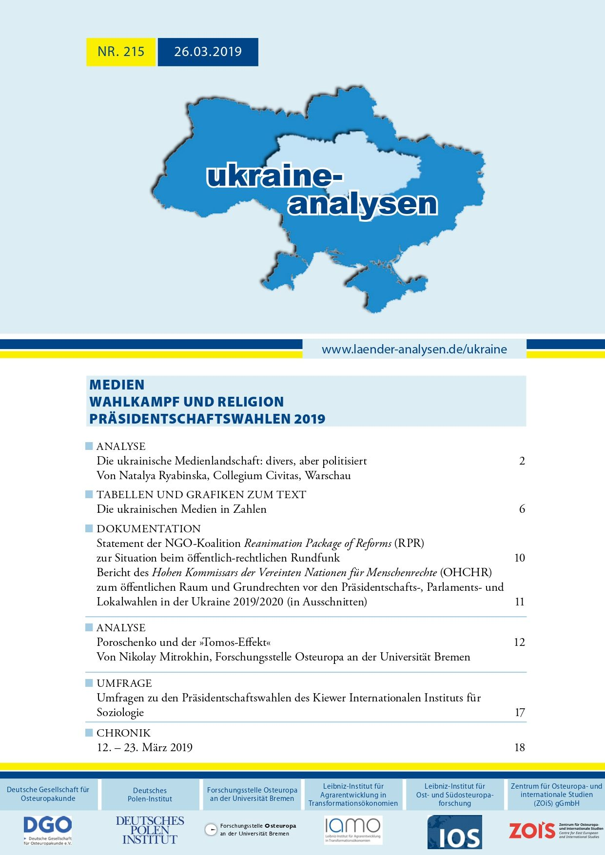 UkraineAnalysen215 cover